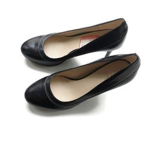 Nine West Heels NWOB Leather Zipper Detail Size 6M